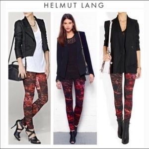 HELMUT LANG RED MIDNIGHT REFLEX LEGGINGS